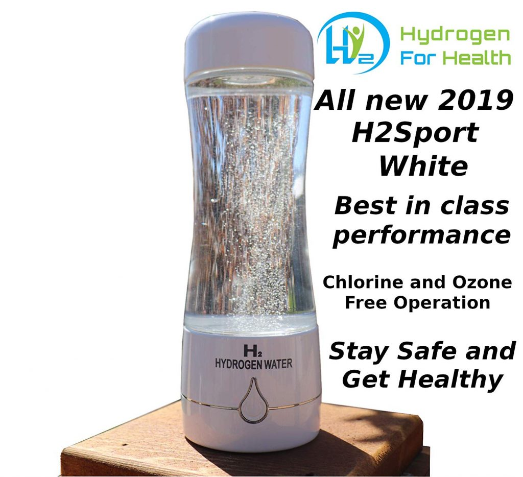 H2 Sport Chrome Hydrogen Generator Water Bottle with PEM Dual Chamber Technology. New for 2019