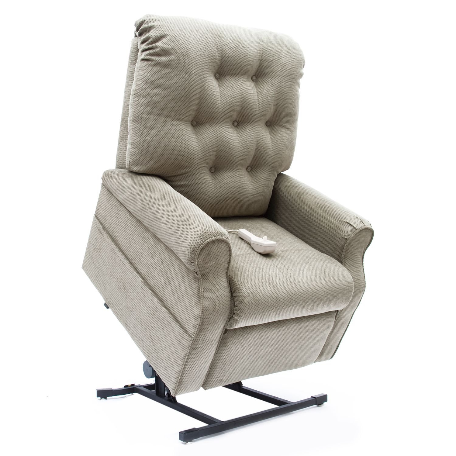 3 Position Lift Chair with Chaise Pad Color: Sage