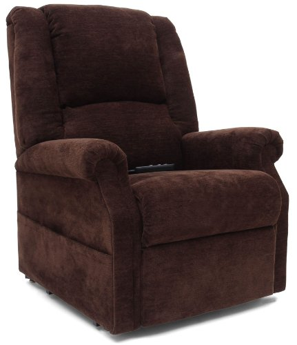 Mega Motion Infinite Position Power Easy Comfort Lift Chair Lifting Recliner FC-101 Infinite Recline Rising Electric Chaise Lounger - Java Brown Color Fabric + Inside the Home Delivery, Setup and Box Removal