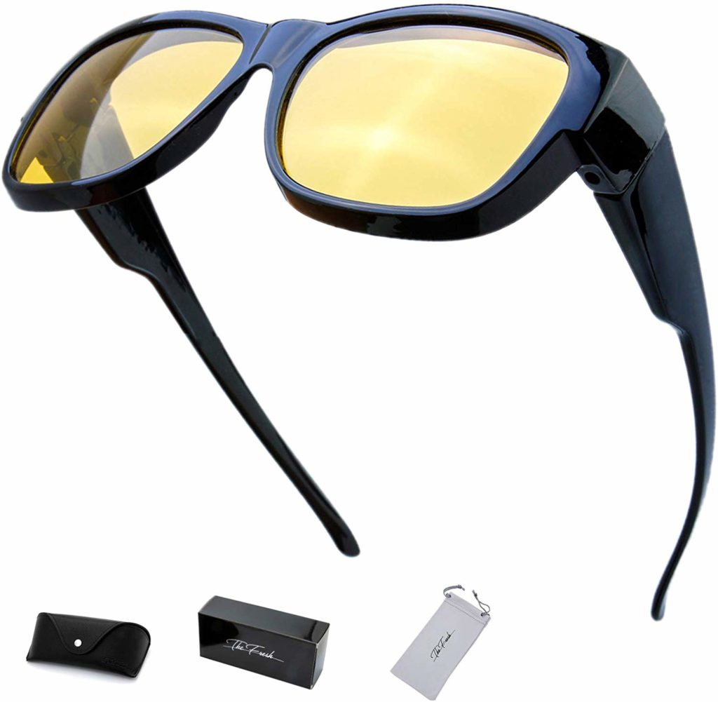 The Fresh High Definition Polarized Wrap Around Shield Sunglasses for Prescription Glasses - Gift Box Package