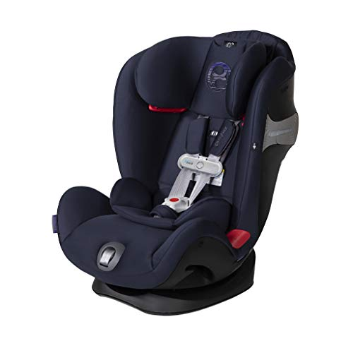 Cybex Gold Eternis S All in 1 Convertible Toddler Baby Infant Rear or Forward Facing Car Seat with SensorSafe, Denim Blue