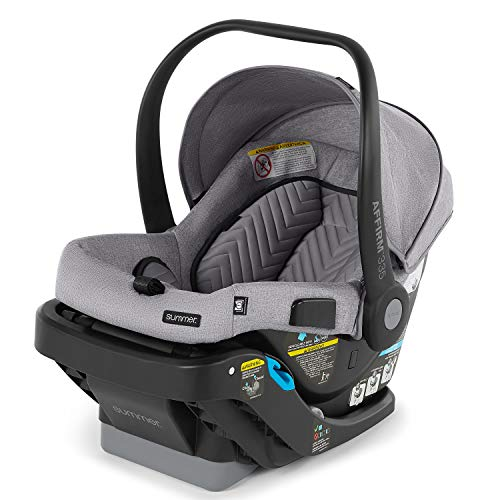 Summer Affirm 335 Rear-Facing Infant Car Seat, Stone Gray – Including Easy-to-Install Steeloc Car Seat Base